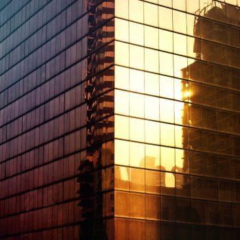 Building Exterior City Urban Office Reflection Concept