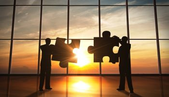 Business teamwork – puzzle pieces