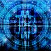 bitcoin symbol digital abstract background
