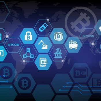 Bitcoin Electronic Crypto Currency Concept Background