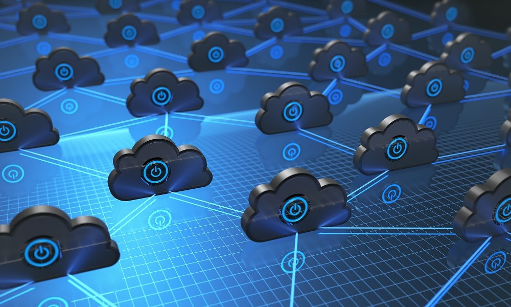 3D illustration. Image background concept of cloud computing.