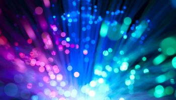Background with optical fibers