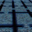 Blockchain digital background