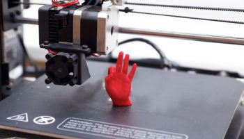 3d printer printed the red hand