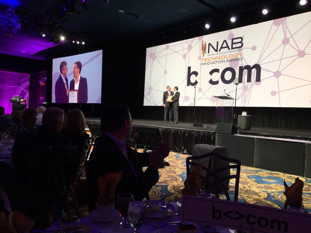 b<>com wins the prestigious Technology Innovation Award during NAB Show TechNative