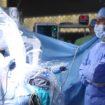 Robotic Surgery. Medical robot. Medical operation involving robot – Stock Image