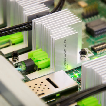 Electronic circuit board close-up