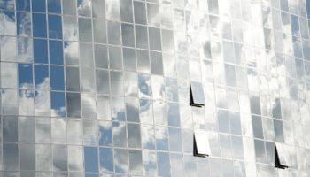 Sky-scraper glass surface