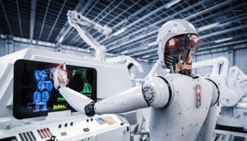 robot working in factory