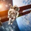 International Space Station and astronaut.