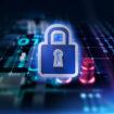 digital cyber security system concept 3d illustration