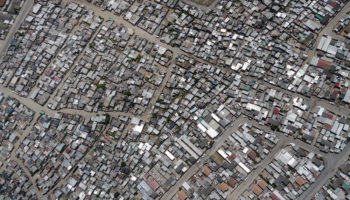 aerial of south african township