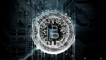 Circuit Board Projecting Bitcoin