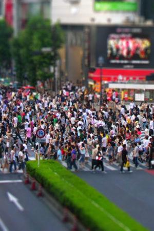 Tokyo pedestrian crossing