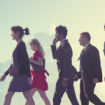 Business People Commuter Cityscape Team Concept