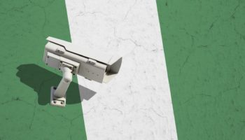 CCTV camera on flag of Nigeria