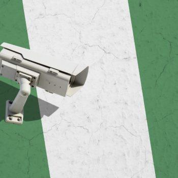 CCTV camera on flag of Nigeria