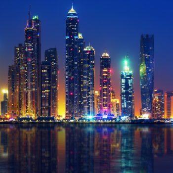View of Dubai by night