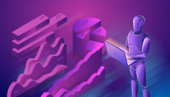 Data Search Bot. Big Data Analysis Robot Concept. Bot Virtual As
