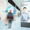 digital advertisement in shopping mall