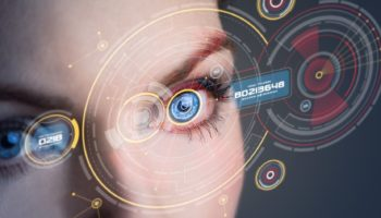 Iris recognition concept.