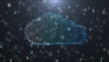 Futuristic cloud technology digital Network technology background, communication technology illustration Abstract background