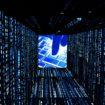 Binr Code Tunnel – Mit Bokeh und Tastatur- Futuristisch