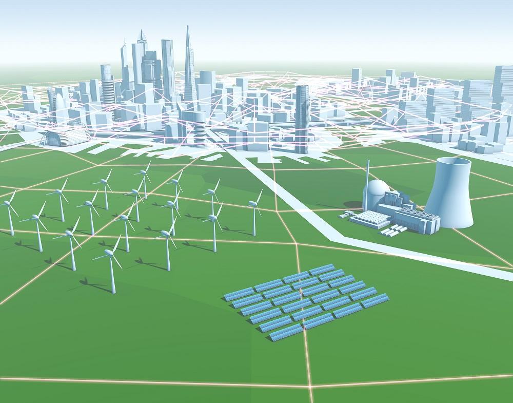 Smart Grids – intelligente Stromnetze: Illustration